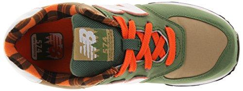 New Balance Kl574 Pre Scho - Zapatillas de Deporte de canvas Infantil verde - Vert (1Cp Green)
