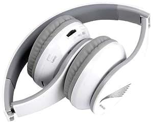 Sogo BTO-SS-8450 - Auriculares (de diadema cerrados, Bluetooth, 3.5 mm, inalámbrico y alámbrico), color blanco