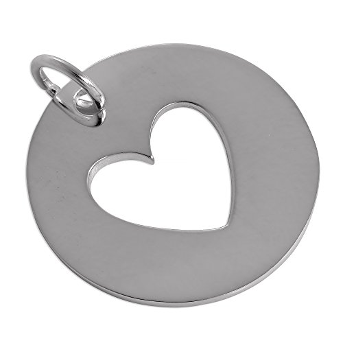 r Cut Out Heart Disc Charm (Cut Out Disc Charm)