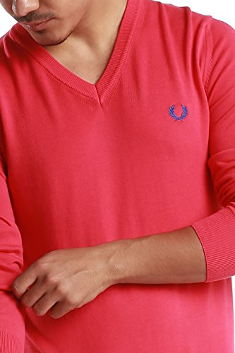 """Fred Perry Green Label Men's Sweatshirt Medium Pink V-Neck Sweatshirt with Blue """"laurel"""" by Fred Perry (Image #5)"""