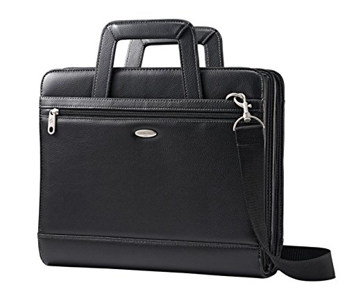 (Samsonite Vinyl 3-Ring Padfolio with Handles and Shoulder Strap, 14