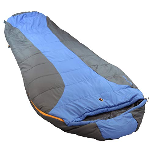 (MISC Blue 0Degree Sleeping Bag for Adults 0 Degree Sleep Bag Coldweather 0c Sleepingbag Warm Oversized Camping Outdoors, Synthetic)