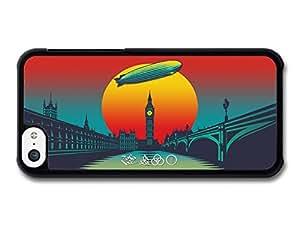 Diy iphone 5 5s case Led Zeppelin Sunset Illustration London case for iPhone 5 5S