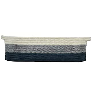 """Cotton Rope Diaper Caddy Basket for Nursery Changing Table and Storage 