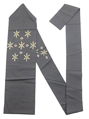 唯一有用飼い慣らすリサイクル 名古屋帯 塩瀬 菱に花模様 正絹