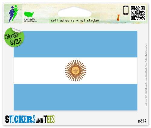 Argentina Argentinian Flag Vinyl Car Bumper Window Sticker 3