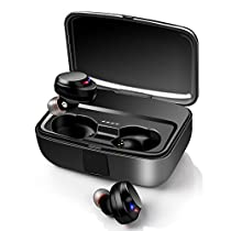 【最新Bluetooth5.0+EDR搭載 3000mAh充電ケース付 IPX7防水...