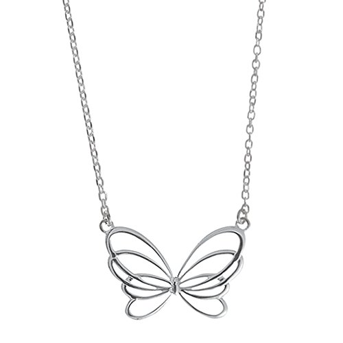 (Boma Jewelry Sterling Silver Butterfly Necklace, 16 inches)