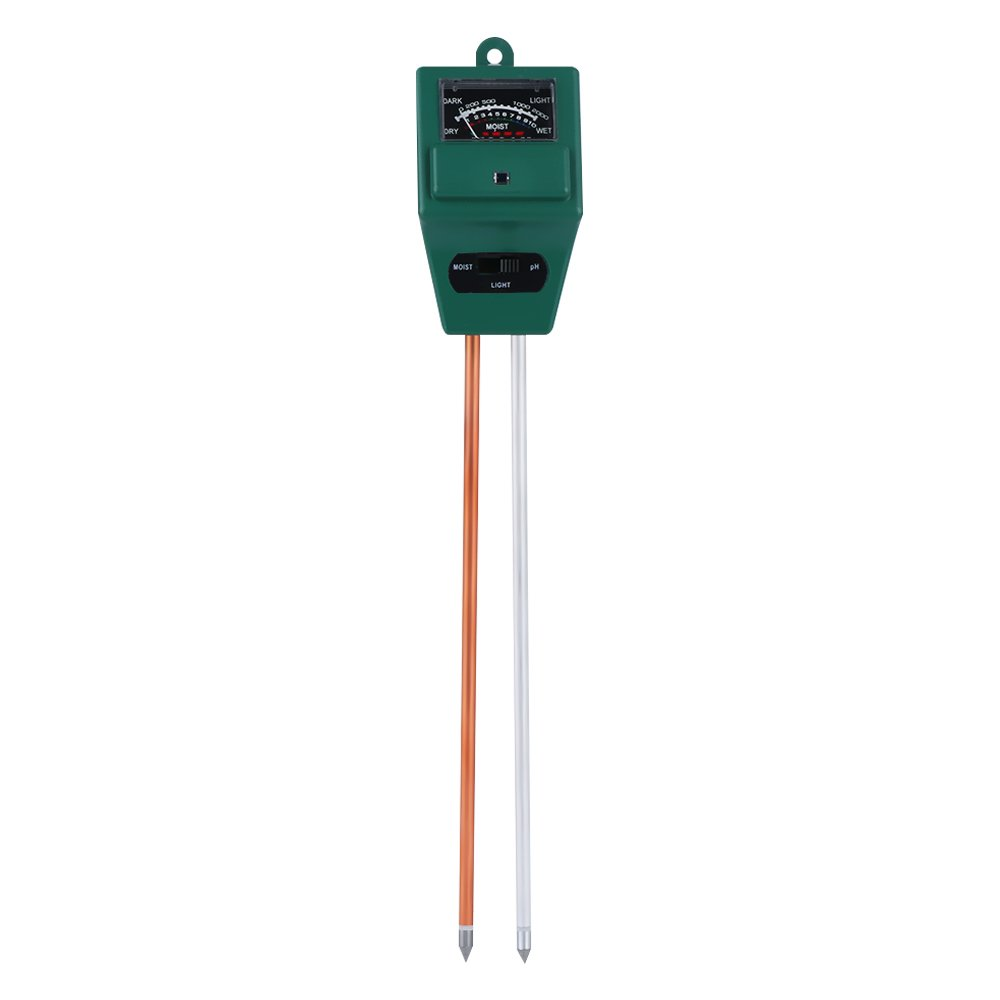 Soil pH Meter, 3-in-1 Soil Tester Moisture Meter, Light and PH acidity Tester, Plant Soil Tester Kit, A Must Have For Home And Garden, Lawn, Farm, Plants, Indoor/Outdoors (No Battery Needed) (Type 1)
