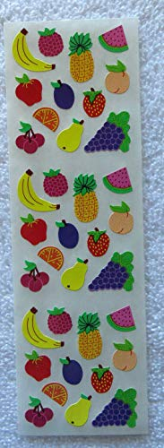 (Fruit Mini Strip of Colorful Vintage Retired Stickers Decoration tokobootslittle)