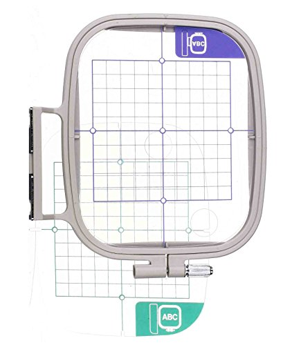- 4 x 4inch Embroidery Hoop w/Placement Grids for Brother PE-700, PE700II, PE-750D, PE-770, PE-780D, Innovis 1000, Innovis 1200, Innovis 1250D, PC-6500, PC-8200, PC-8500 Babylock Ellure