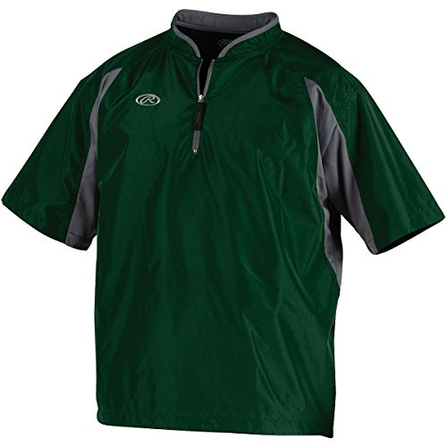 Rawlings Men's Cage Jacket (Dark Green, (Baseball Style Jacket)