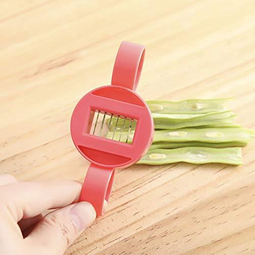 Creative Kitchen - Cortador de frijoles multifuncional para el hogar, verde, verduras, verduras, utensilios de cocina,...