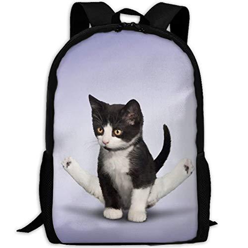 (Fashion School Backpack Yoga Kitten Outdoor Casual Shoulders Multipurpose Backpack Travel Bags For Children,Kids)