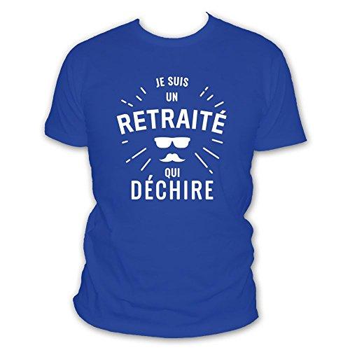 Déchire Un Je Shirt Retraité Blanc Bleu Suis Qui Humour L'abricot Roi HqawA8XxRx