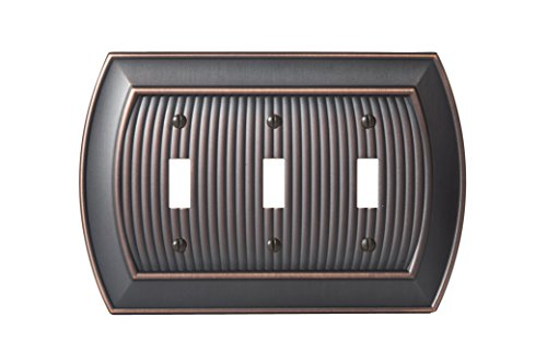 Amerock BP36530ORB Allison 3 Toggle Wall Plate - Oil-Rubbed Bronze by Amerock