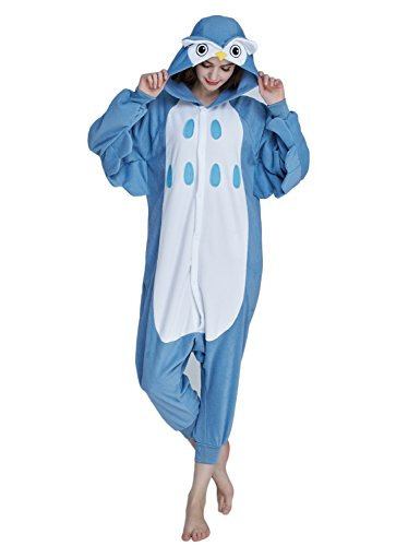 KING FUN Cute Owl Unisex Adult Animal Cosplay Costume Sleepwear Onesie Pajama Medium A8