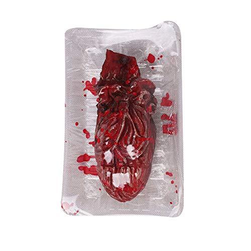 MOKO-PP Halloween Fake Heart Brain Organ Haunted House Blood Horror Props Trick(C) for $<!--$0.79-->