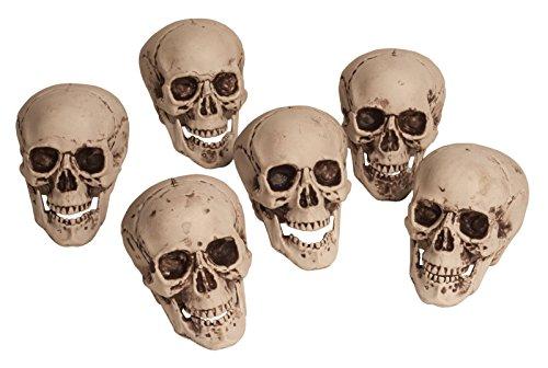 [Bag of (6) Six Mini Skulls (Bone White)] (Disneyland Haunted Mansion Costume)