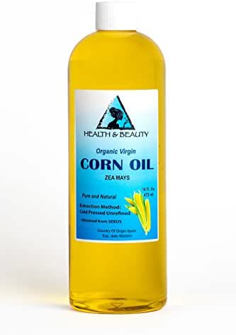Corn/Maize Oil Unrefined Organic Virgin Raw Cold Pressed Premium Fresh Pure 32 oz