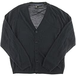Weatherproof Mens Button-Down Soft Touch Cardigan Sweater Navy S