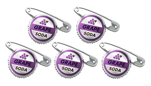 Price comparison product image 5 Grape Soda Bottle Cap Pins Inspired by up Set #1