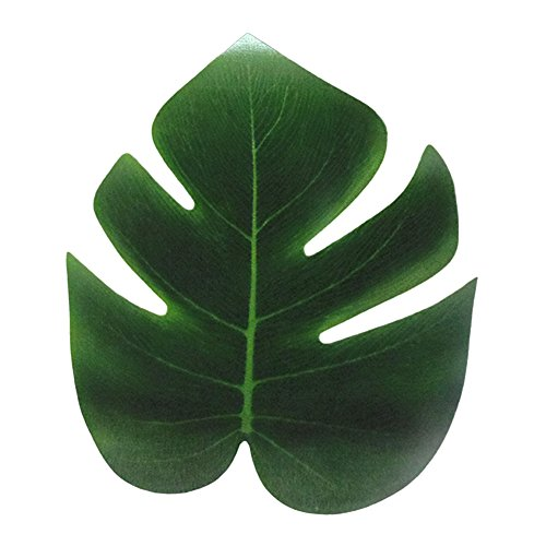 dezirZJjx Artificial Plants 12Pcs Artificial Leaf Tropical Palm Leaves Party Decoration Home Garden Decor - S
