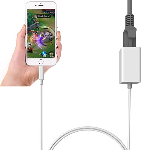 Lightning to RJ45 Ethernet LAN Wired Network Adapter-Overseas Travel Compact for iPhone iPad by FindUWill (Image #1)