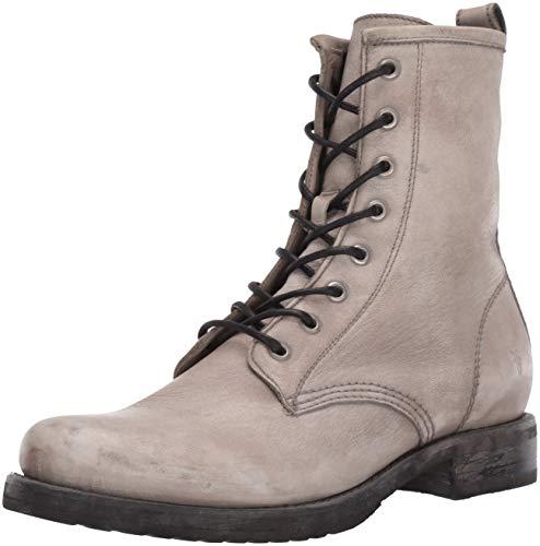 FRYE Women's Veronica Combat Boot, Grey, 11 M US