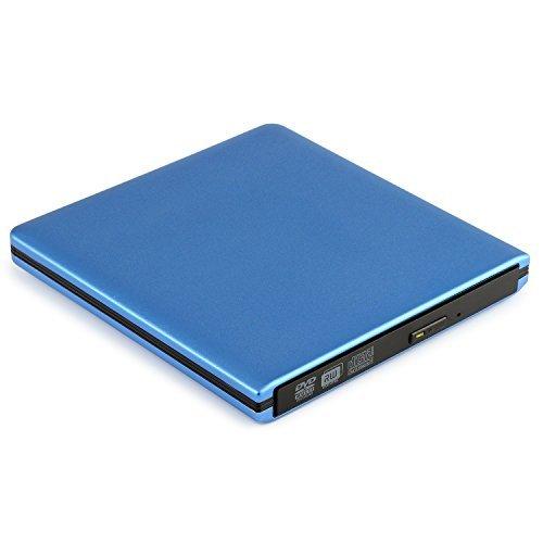 UPC 701772182931, External DVD Drive, YOKKAO USB 3.0 Slim CD/DVD-RW Burner Writer Player Hard Drive External ODD & HDD Device Plug and Play for Apple Macbook, Macbook Pro, Macbook Air and More Laptop Desktop (Blue)