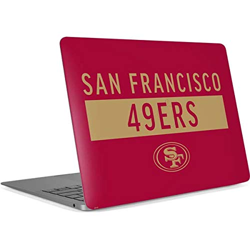 Skinit Decal Laptop Skin for MacBook Air 13in Retina (2018-2019) - Officially Licensed NFL San Francisco 49ers Red Performance Series Design (49ers Laptop Skin)