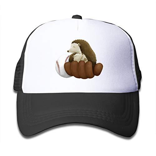 rls Hedgehugs Baseball Youth Mesh Baseball Cap Summer Adjustable Trucker Hat ()