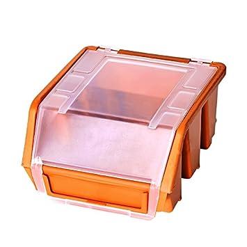 Visión Caja de almacenamiento con tapa GR1 Naranja cajas Nou Cajas Almacenamiento Cajas: Amazon.es: Bricolaje y herramientas