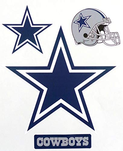 FATHEAD Dallas Cowboys Mini Graphics Logo Helmet Sign Official NFL Vinyl Wall Graphics 7.5