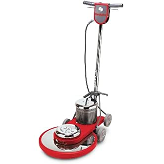Sanitaire SC6045B Commercial High Speed Floor Cleaner Machine with Chrome Plated Steel Housings and 1.5 HP Motor, 20  Brush Size