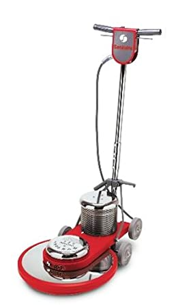 """Sanitaire SC6045B Commercial High Speed Floor Cleaner Machine with Chrome Plated Steel Housings and 1.5 HP Motor, 20"""" Brush Size"""