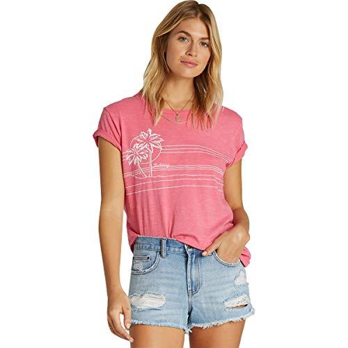 Billabong Women's Best of Times Shirts,Medium,Sunset Pink