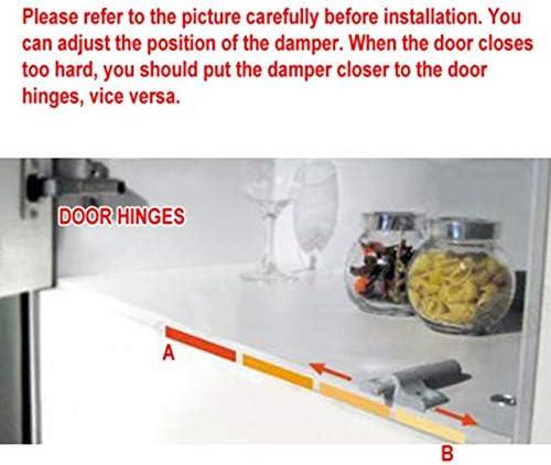 30 unidades tornillos incluidos Amortiguador suave para armarios y puertas de cocina cierre silencioso