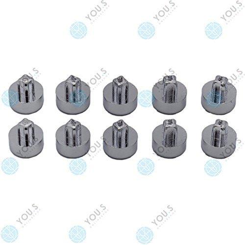 10 x YOU.S Zierstopfen Zierschrauben Ziernieten Chrom Alufelgen Felgen Tuning IC02