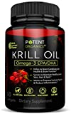 Premium Krill Oil 1000 mg – 60 Softgels - No