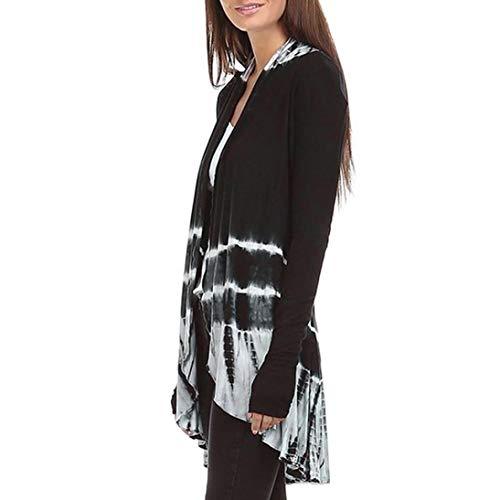 Dgrade Manteau Manches Femme Blouse Impression AIMEE7 Cardigan Couleur Noir en Longues tY1c0qw
