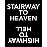 Stairway to Heaven - Led Zeppelin/Highway to Hell - AC/DC Inspired Song Lyric Art Print - 11x14 Unframed Art Print - Makes a Great Gift for Any Music Lover. Perfect for the Game, Living or Bed Room