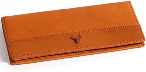 H&J Mens Genuine Leather Wallet Hybrid Bifold ( 3 Size )