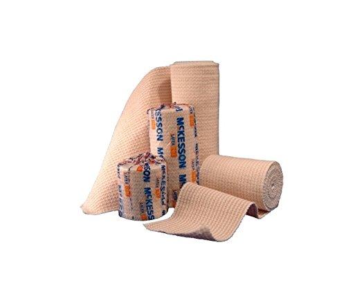 McKesson 16-1033-3-STR Medi-Pak Knit Elastic Bandage, Premium, Single Self-Closure, Honeycomb, Sterile, Stretched, 3'' W x 5yd. L, 3'' Width, 180'' Length (Pack of 36)