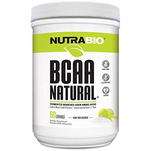 NutraBio BCAA Natural Powder - 60 Servings (Unflavored)