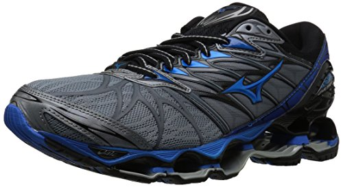Mizuno Men's Wave Prophecy 7 Running Shoe, Trade Winds/Black, 11 D US