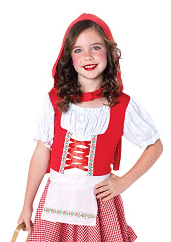 Leg Avenue Costumes 2Pc.Lil Miss Red Peasant Apron Dress and Matching Cape, Small -