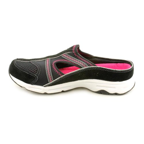 Easy Spirit Arora Womens Slip On Black-fucsia-camoscio