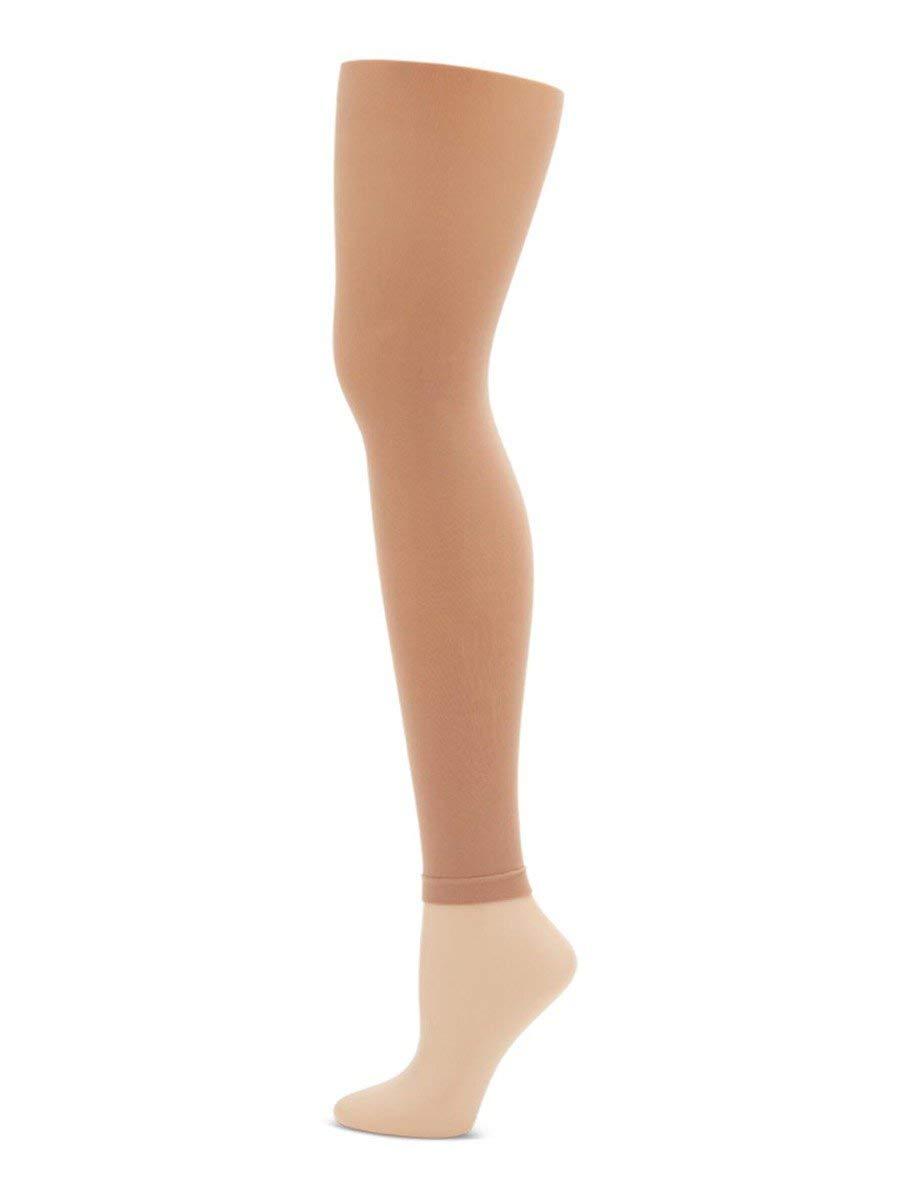 Capezio Little Girls' Hold & Stretch Footless Tight Socks, Light Suntan, Small