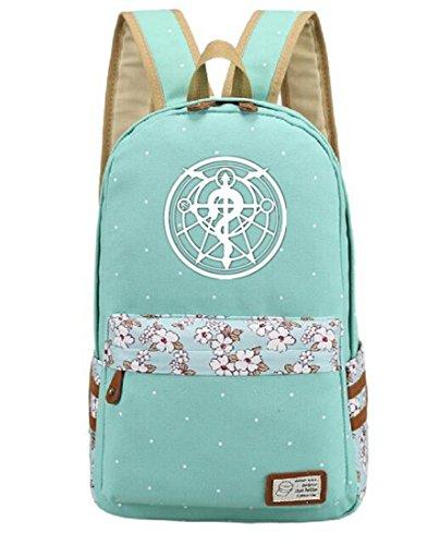 YOYOSHome Luminous Anime Cosplay Laptop Bag Bookbag College Bag Daypack Backpack School Bag (Fullmetal Alchemist 1)